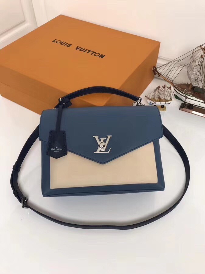 【LV】路易威登 女款邮差包 型号:M54849 蓝色