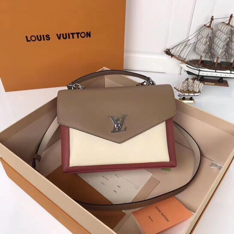 【LV】路易威登 女款邮差包 型号:M54849 豆沙红